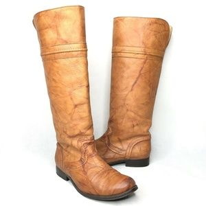 Frye Melissa Trapunto Marbled Leather Riding Boots